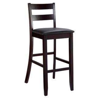 Linon Piedmont TriBeCa Bar Stool in Espresso