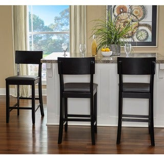 Linon Piedmont Black Stationary Counter Stool