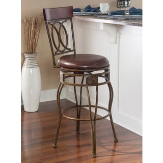 Linon Circle of Life Counter Stool with Brown PVC