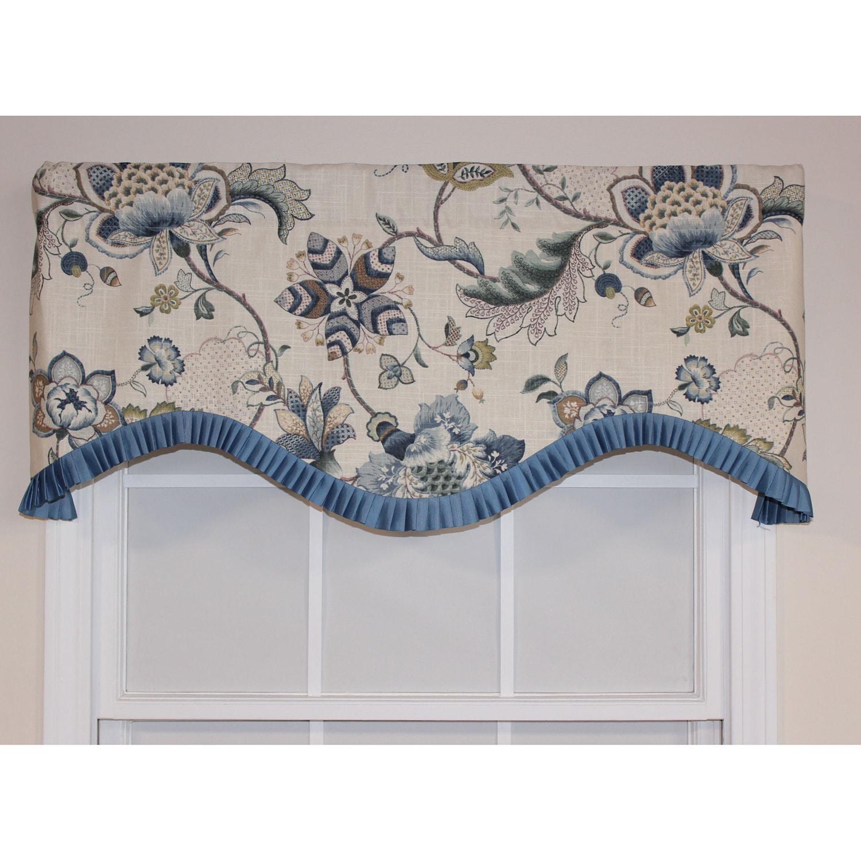 RLF Home Porcelain Cotton 16-inch Portobello Cornice Vala...