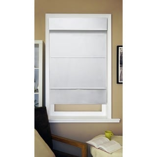 Chicology Cordless Magnetic Light Filtering Roman Shades in Mountain Snow