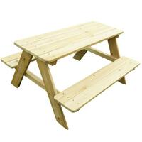 Kidkraft Outdoor Table Amp Bench Set With Cushions