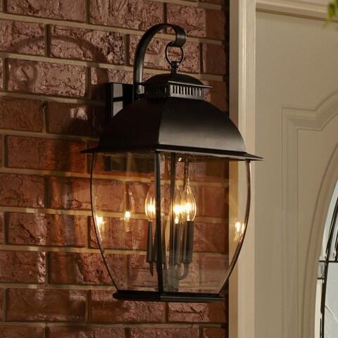 Copper Grove Eucalyptus 3-light Black Outdoor Fixture