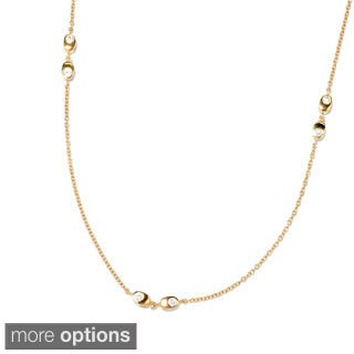 Sonia Bitton Platinum or Goldplated Sterling Silver Cubic Zirconia Necklace