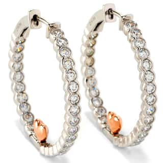 Sonia Bitton Platinum and Rose Goldplated Sterling Silver Cubic Zirconia Heart Hoop Earrings|https://ak1.ostkcdn.com/images/products/8615663/Sonia-Bitton-Platinum-and-Rose-Goldplated-Sterling-Silver-Cubic-Zirconia-Heart-Hoop-Earrings-P15882638.jpg?impolicy=medium