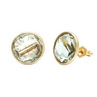 14k Yellow Gold Briolette Green Amethyst Earrings Ping The Best Deals On Gemstone