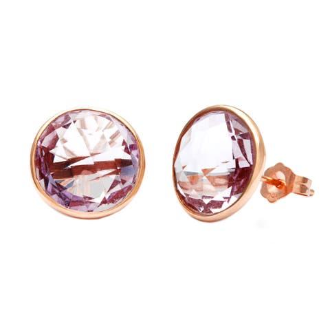 14k Rose Gold Amethyst Briolette Earrings