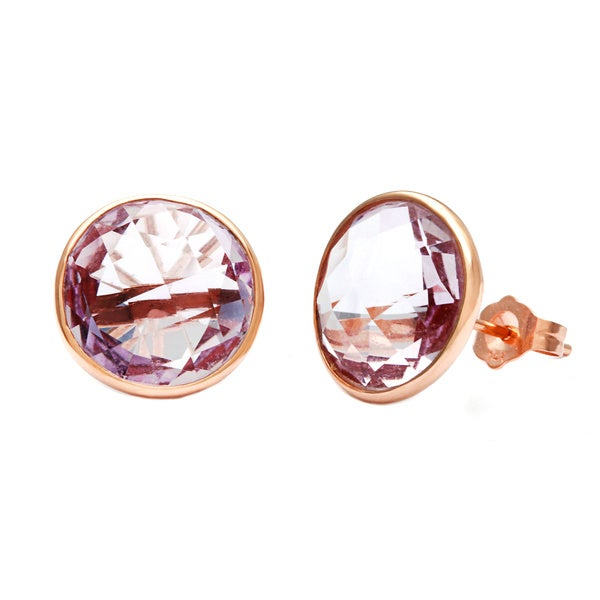 14k Rose Gold Amethyst Briolette Earrings. Opens flyout.