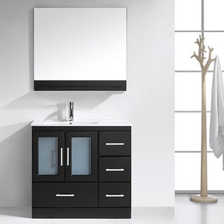 Virtu USA Ava 36-inch Espresso Single Sink Vanity