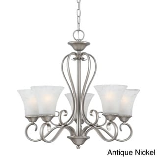Link to Copper Grove Troyes 5-light Scrolled Chandelier Similar Items in Chandeliers