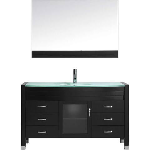 Virtu USA Ava 55-inch Espresso Single Sink Vanity