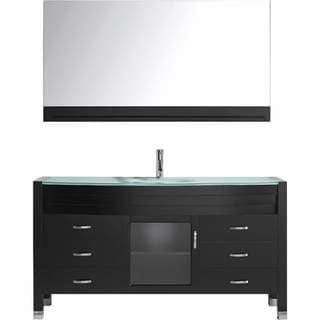 Virtu USA Ava 61-inch Espresso Single Sink Vanity