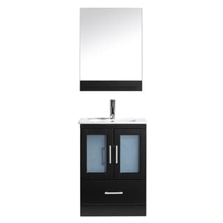 Virtu USA Ava 24-inch Espresso Single Sink Vanity