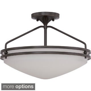 Ozark 3-light Iron Gate Semi-Flush Mount