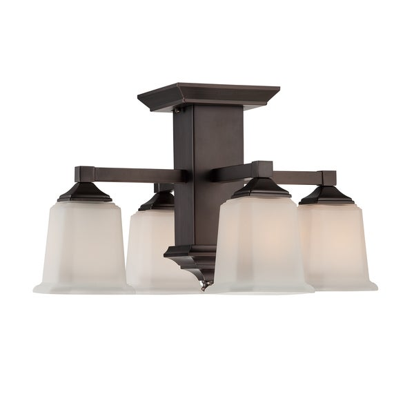 Oliver & James Norman 4-light Bronze Semi-flush Mount