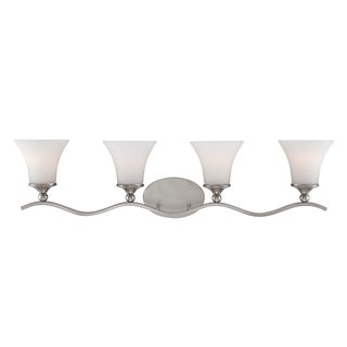 Sophia 4-light Brushed Nickel Bath Fixture