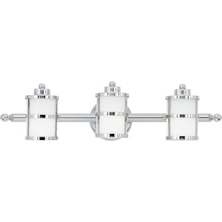 Tranquil Bay 3-light Polished Chrome Bath Fixture