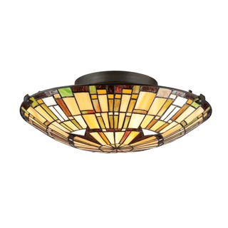 Quoizel Tiffany-Style 2-light Vintage Bronze Flush Mount|https://ak1.ostkcdn.com/images/products/8615928/Tiffany-Style-2-light-Vintage-Bronze-Flush-Mount-P15882811.jpg?impolicy=medium