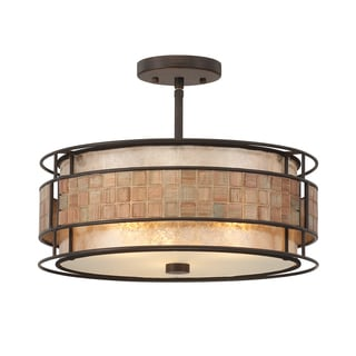 Quoizel 'Laguna' Semi-flush Mount