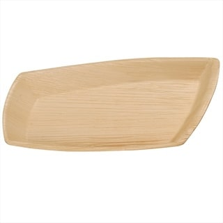 Handmade Leaf & Fiber Compostable Geometric Palm Leaf Plates (Pack of 100) (India)