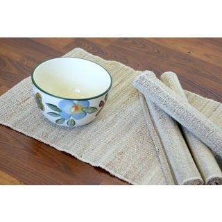 Set of 4 Handwoven Natural Banana Fiber Rope Placemats (India)
