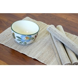 Set of 4 Handmade Natural Banana Fiber Rope Placemats (India)|https://ak1.ostkcdn.com/images/products/8615980/Set-of-4-Handwoven-Natural-Banana-Fiber-Rope-Placemats-India-P15882854.jpg?impolicy=medium