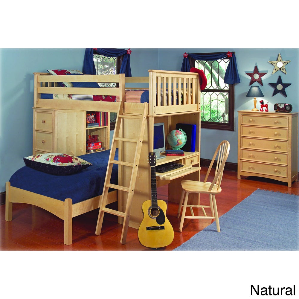 Bolton Classic Twin Loft/ Platform Bed Set with Built-in ...