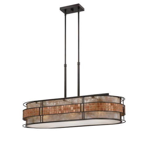 Strick & Bolton Maini 3-light Copper Linear Chandelier