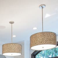 Quoize Carolyn Kinder 'Confetti' 4-light Pendant - Old Silver