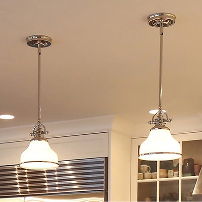 nickel with mini kitchen light brushed shade bar dp metal and pendant