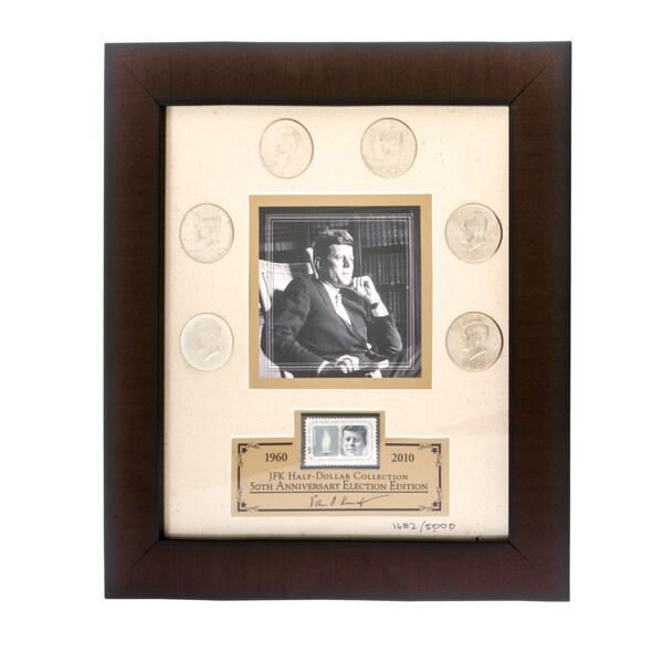 Franklin Mint JFK Half-dollar Coins with Framed Lithograph