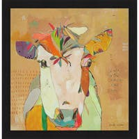 Jennifer Mercede 'Mom Cow' Framed Art Print