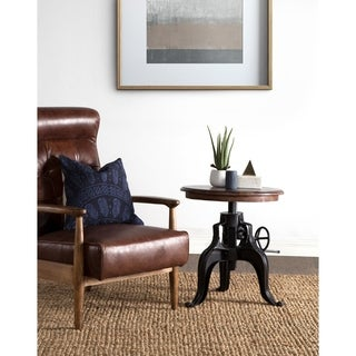 Niketa Adjustable 22-inch Reclaimed Wood Crank Table by Kosas Home