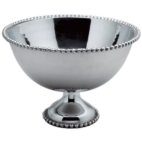 Beaded 16-inch Aluminum Punch Bowl