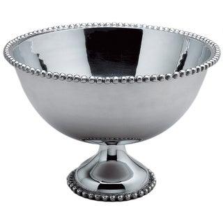 Beaded 16-inch Aluminum Punch Bowl