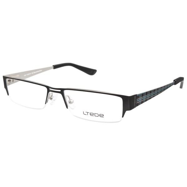 9543a71d0d8f Shop Ltede 1047 Black Silver Prescription Eyeglasses - Free Shipping ...