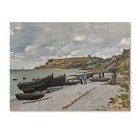 Claude Monet 'Sainte-Adresse 1867' Canvas Art - Multi
