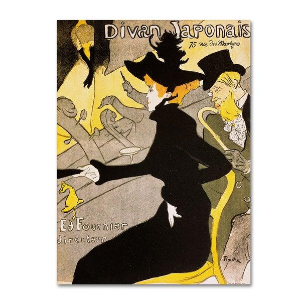 Henri toulouse lautrec 39 divan japonais 39 canvas art free for Divan japonais