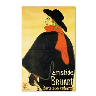 Henri Toulouse-Lautrec 'Aristide Bruant' Canvas Art
