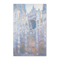 Claude Monet 'Rouen Cathedral West Facade 1894' Canvas Art - Multi