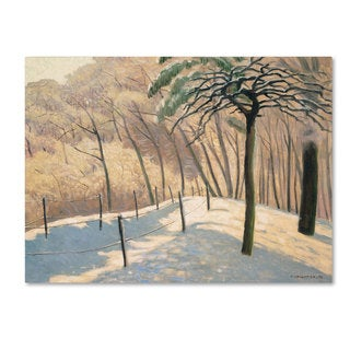 Felix Vallotton 'Snowy Landscape' Canvas Art