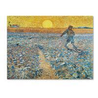 Vincent van Gogh 'Sower' Canvas Art - Multi