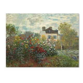 Claude Monet 'The Artist's Garden In Argenteuil' Canvas Art