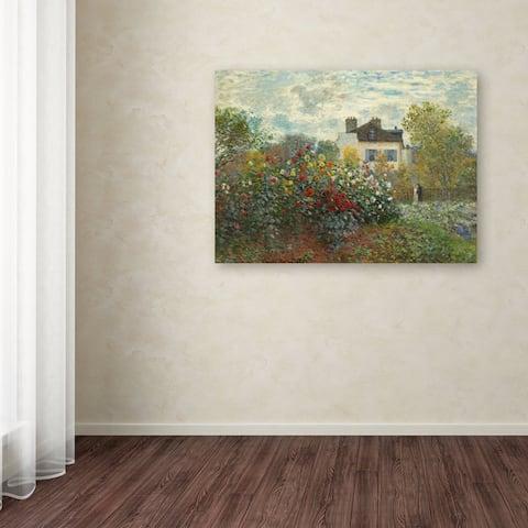 Copper Grove Claude Monet 'The Artist's Garden In Argenteuil' Canvas Art