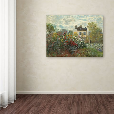 Copper Grove Claude Monet 'The Artist's Garden In Argenteuil' Canvas Art