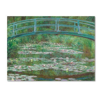 Claude Monet 'The Japanese Footbridge 1899' Canvas Art