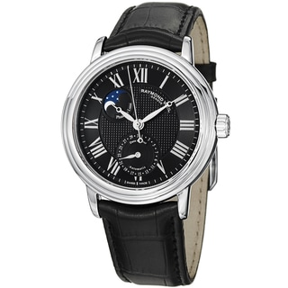 Raymond Weil Men's 2839-STC-00209 'Maestro' Black Dial Moon Phase Automatic Watch