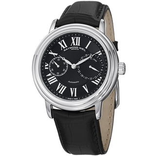Raymond Weil Men's 2846-STC-00209 'Maestro' Black Dial Black Leather Strap Watch
