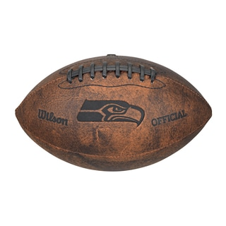Seattle Seahawks 9-inch Leather Football