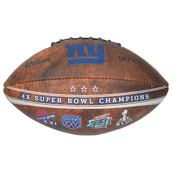 Wilson New York Giants 9-inch Leather Football